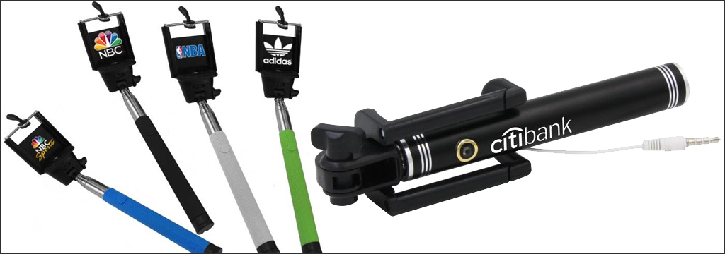 how to use promotional selfie sticks promotional products corporate gifts blog what and why. Black Bedroom Furniture Sets. Home Design Ideas