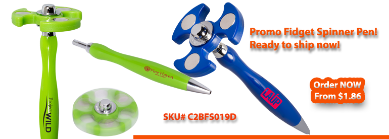 Custom Promotional Fidget Spinner Pen with Logo