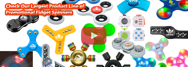 Custom Promotional Fidget Spinners with Logo