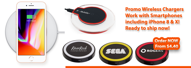Custom Wireless Charging Pads & Mats, Promotional Wireless Chargers Personalized with logo